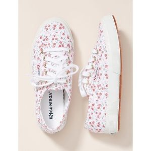 Superga Floral-Printed Sneakers Size 7